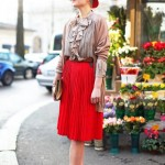 How to Wear Pleated Skirt_2