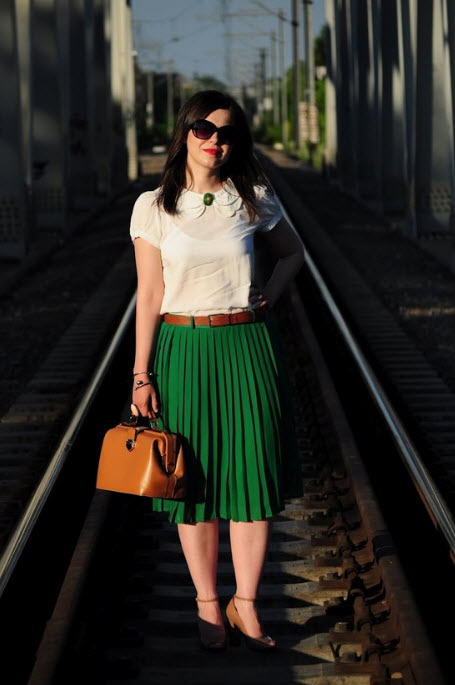 How to Wear Pleated Skirt_5