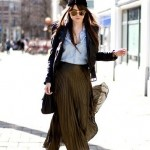 How to Wear Pleated Skirt_8