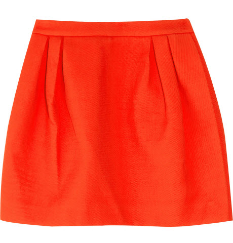 MIU MIU Cotton-twill Pleated Mini Skirt