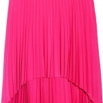 Pleated Stretch wool-crepe Skirt