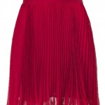 RALPH LAUREN Coastal Red Micro Pleated Chiffon Pipa Skirt