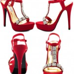 Red Designer Bridal Shoes, Chandelier Red 2 Lips Too