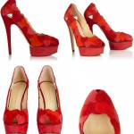 Red Designer Bridal Shoes, Charlotte Olympia Love Me