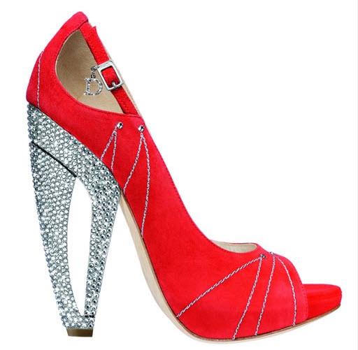 Red Designer Bridal Shoes, Dior
