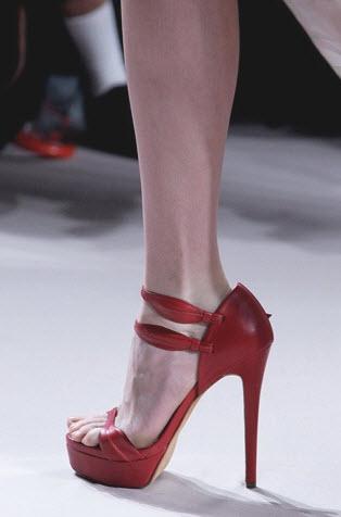 Red Designer Bridal Shoes, Elie Saab