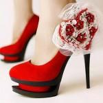 Red Designer Bridal Shoes