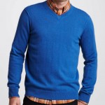 Vince V-Neck Blue Cashmere Sweater