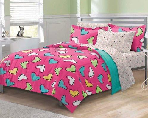 Colorful Bed Comforter Sets Full for Girl