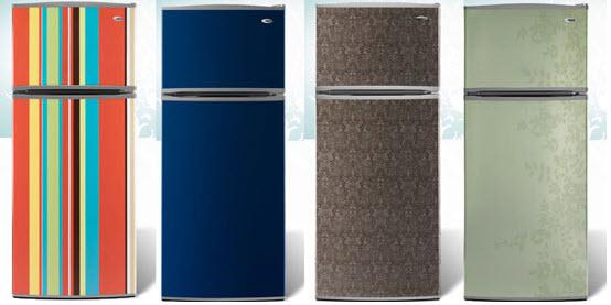 Colorful Retro Style Refrigerators, Amana