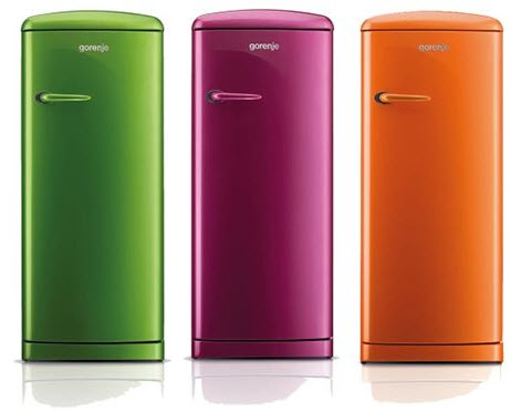 Colorful Retro Style Refrigerators, Gorenje Retro Funky Refrigerators