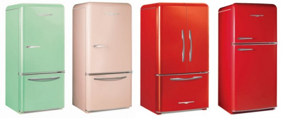 Colorful Retro Style Refrigerators, Northstar refrigerator by Elmira Stove Works
