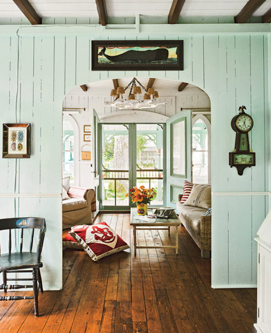 Nautical Cottage Decor Idea with Soft Blue Color