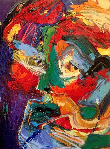 Amazing Face Abstract Paintings by Gerard Stricher