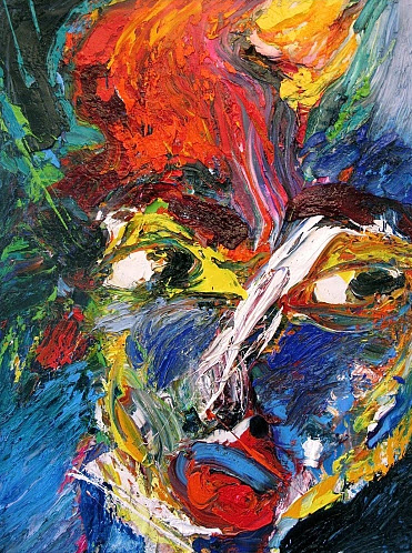 Amazing Face Abstract Paintings by Gerard Stricher_1