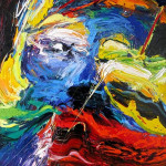 Amazing Face Abstract Paintings by Gerard Stricher_2