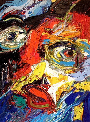 Amazing Face Abstract Paintings by Gerard Stricher_3