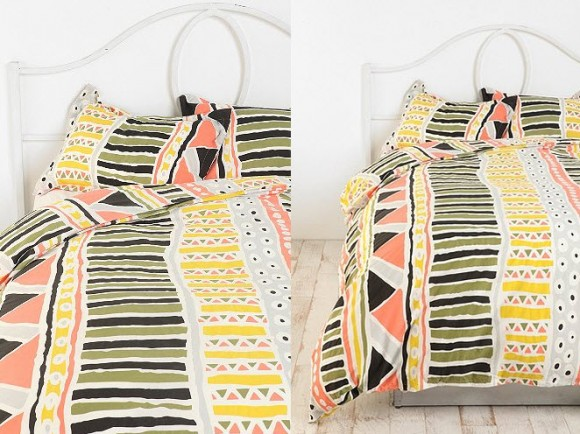 Beautiful Multi-colored Duvet Covers and Pillow Shams_1