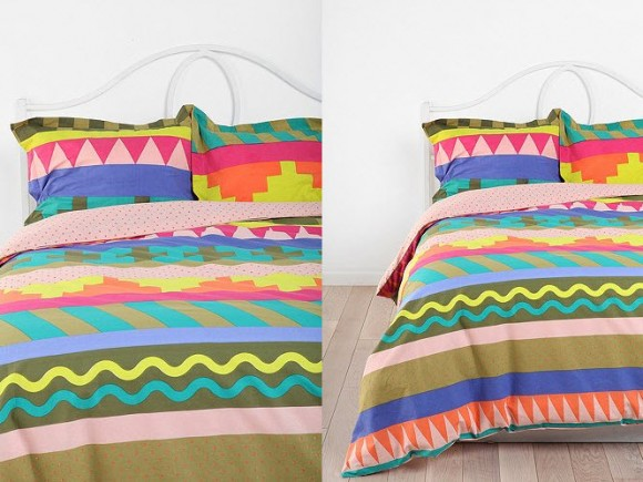 Beautiful Multi-colored Duvet Covers and Pillow Shams_5