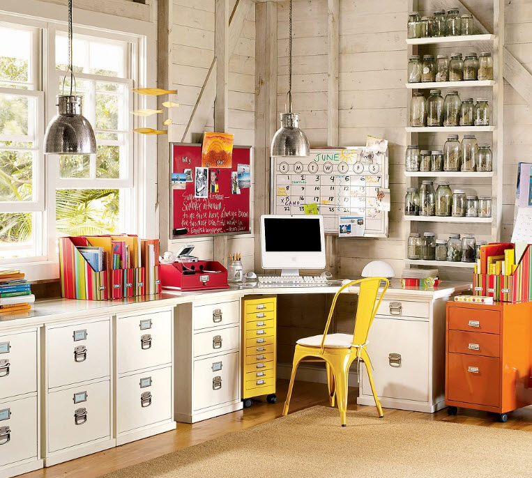 Colorful Home Office Decor Ideas ...