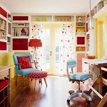 Colorful Home Office Decor Ideas_11