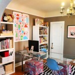 Colorful Home Office Decor Ideas_12