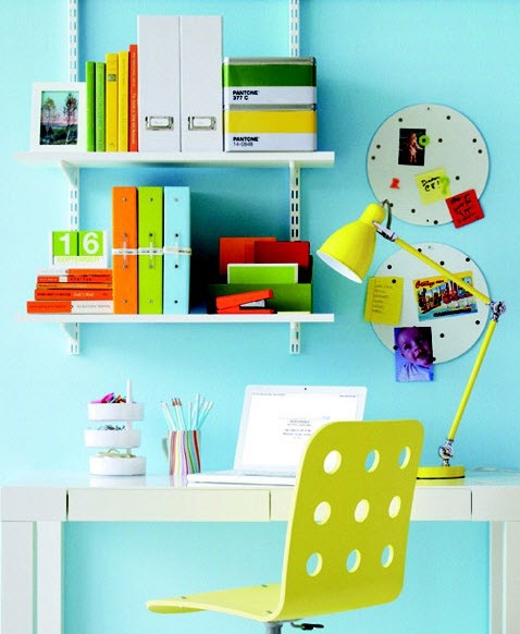 Colorful Home Office Decor Ideas_13