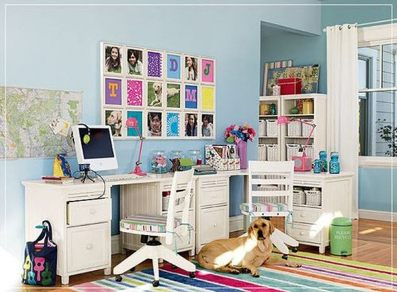 Colorful Home Office Decor Ideas_4