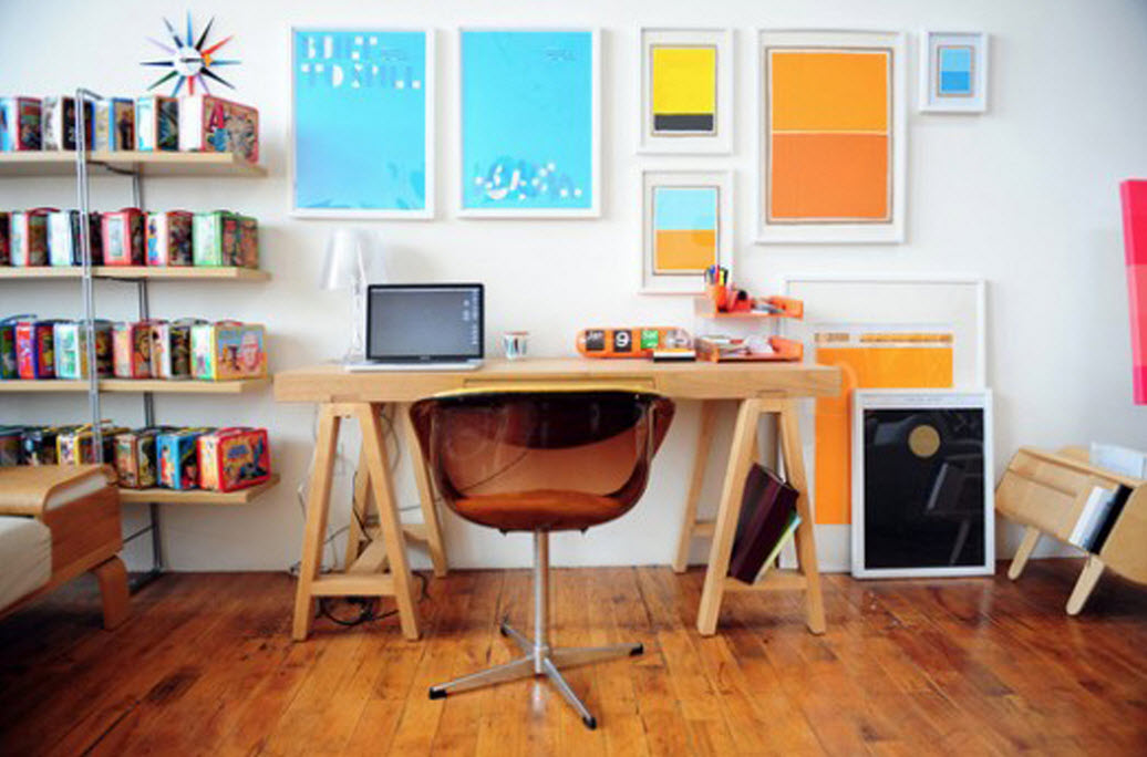 Colorful Home Office Decor Ideas 8