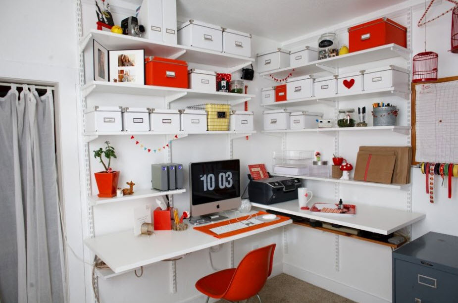 colorful home office decor ideas_9