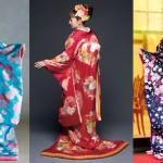 Colorful Japanese Kimono Wedding Dresses