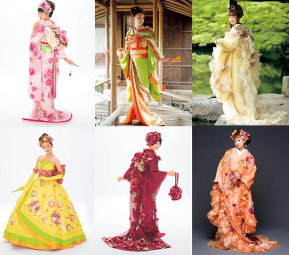 Colorful Japanese Kimono Wedding Dresses by Scene Duno_1
