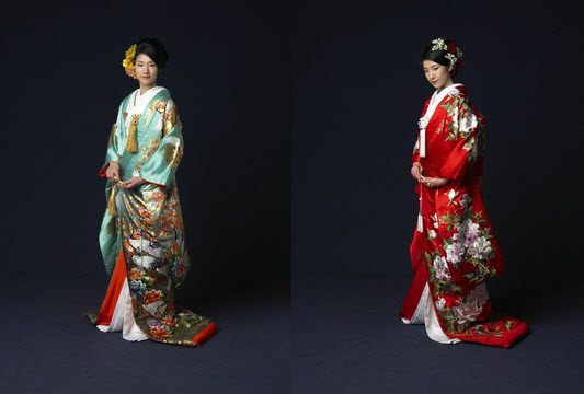 Japanese Kimono Wedding Dresses_3 at In Seven Colors – Colorful ...