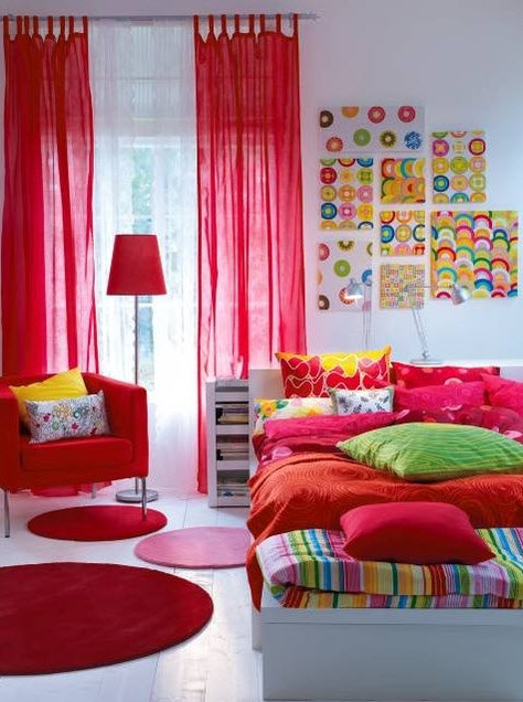 17 Simple and Colorful Design Ideas for Decorating Teenage Girls Bedrooms_16