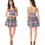 BB Dakota Bria Retro Stripe Minidress