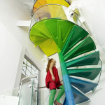 Colorful Staircases to Spice Up Your House - Rainbow Spiral