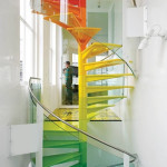 Colorful Staircases to Spice Up Your House - Rainbow Spiral_1