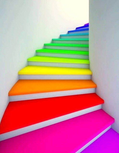 Colorful Staircases to Spice Up Your House_1