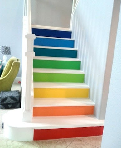 Colorful Staircases to Spice Up Your House_2