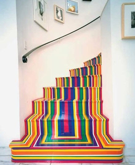 Colorful Staircases to Spice Up Your House_3