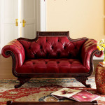 Colored Tufted Sofas Red Tufted-Leather Sofa_1