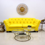 Colored Tufted Sofas Yellow Tufted Sofa_1