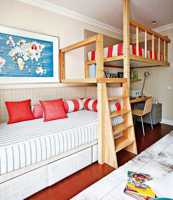 Fun and Colorful Loft Bed Ideas_12