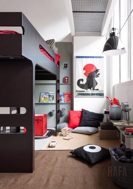 Fun and Colorful Loft Bed Ideas_13