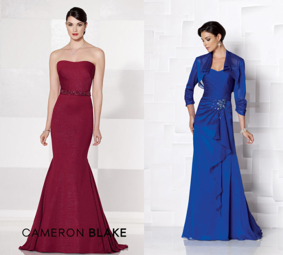 Cameron Blake Blue and Red Mother of the Groom Dresses