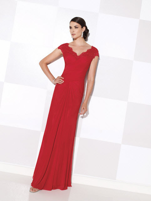 Cameron Blake Red Mother of the Groom Dresses