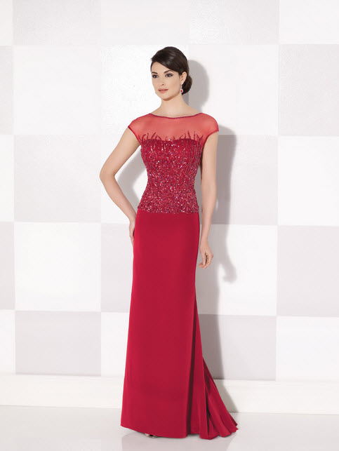 Cameron Blake Red Mother of the Groom Dresses_2