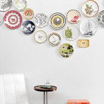 Colorful Dinner Plate Wall Arrangements_6