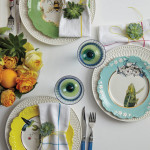 Decorating Wall with Colorful Dinner Plate Wall Arrangements
