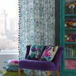 Window Treatment Ideas with Bright Curtains and Drapes from Bluebellgray
